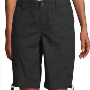 St. John's Bay Black Bermuda Shorts Size  12